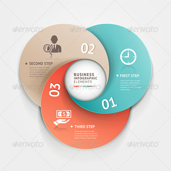 GraphicRiver Modern Infographic Circle Origami Style 7586471