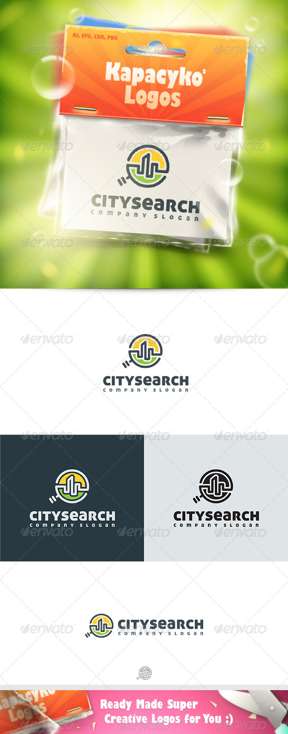 GraphicRiver City Search Logo 7586503
