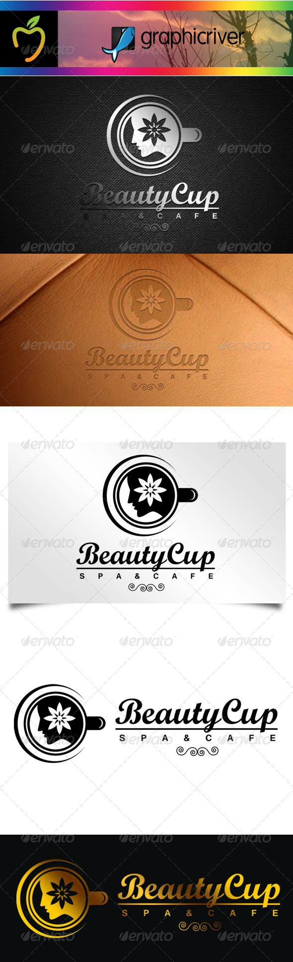 GraphicRiver Beauty Cup Logo 7586868
