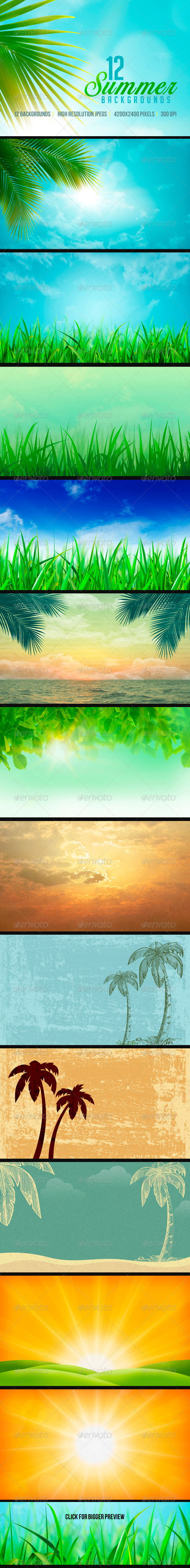 GraphicRiver Summer Backgrounds 7586978
