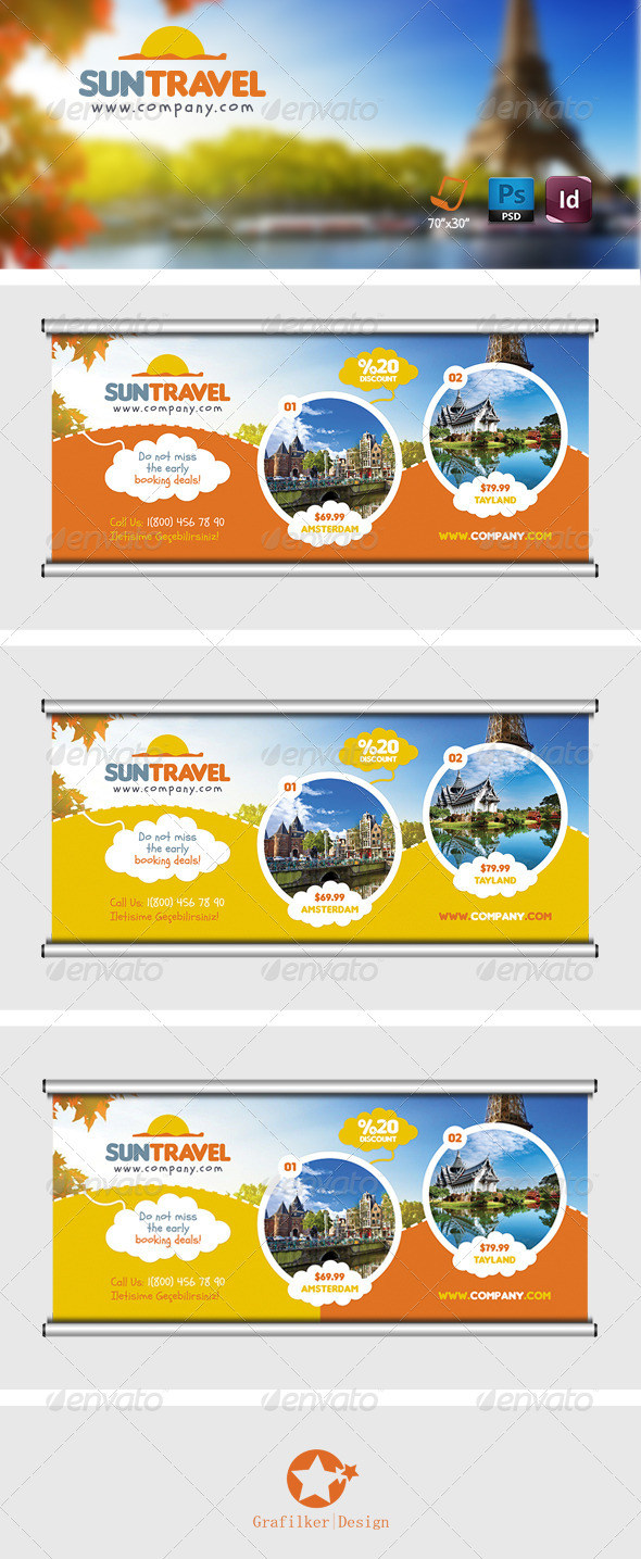 GraphicRiver Travel Tours Billboard Templates 7587108