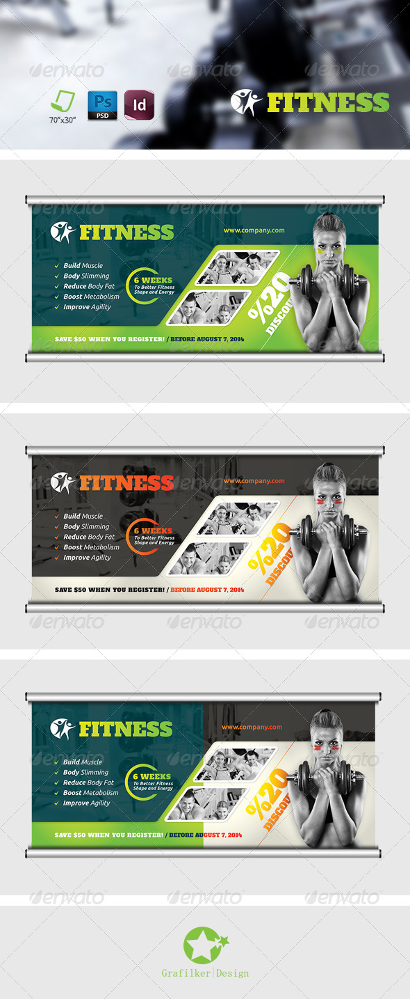 GraphicRiver Fitness Salon Billboard Templates 7587885