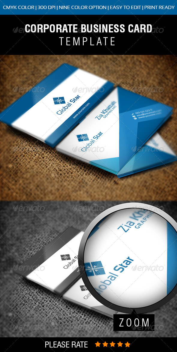 GraphicRiver Global Star Vol-III Business Card 7588324