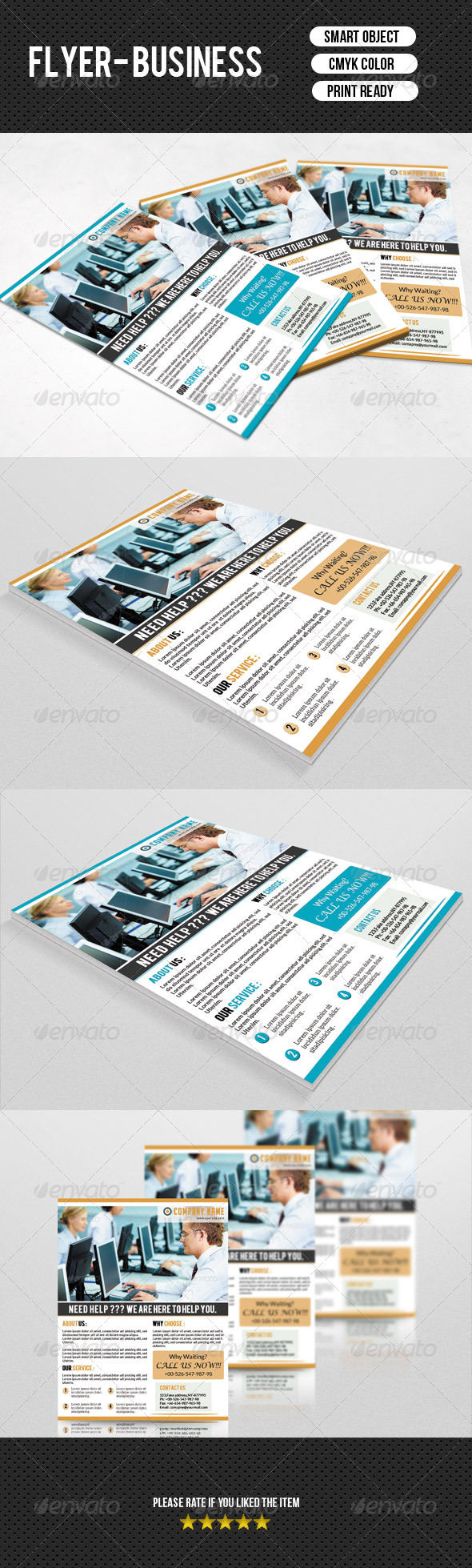 GraphicRiver Corporate Flyer Template 7588353