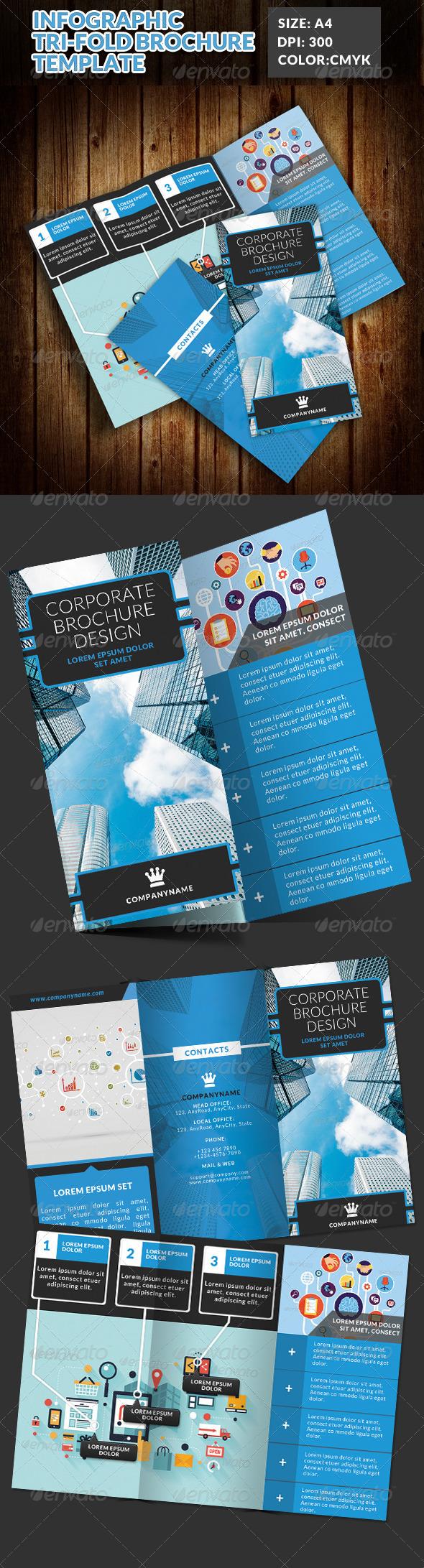 GraphicRiver Infographic Corporate Tri Fold Brochure 7588354