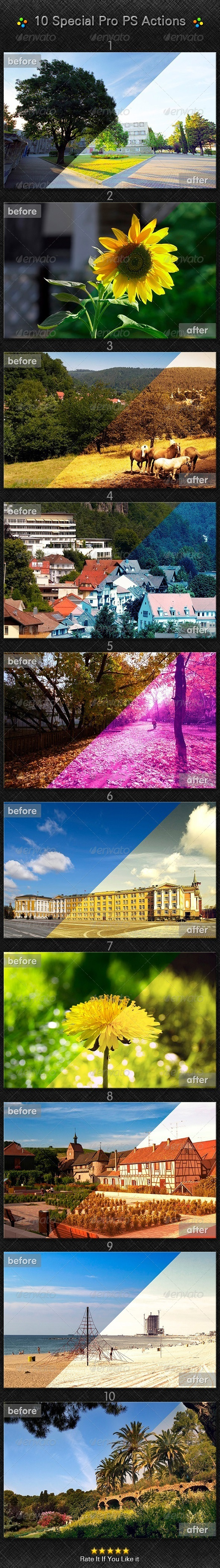GraphicRiver 10 Special Pro PS Action 7588385