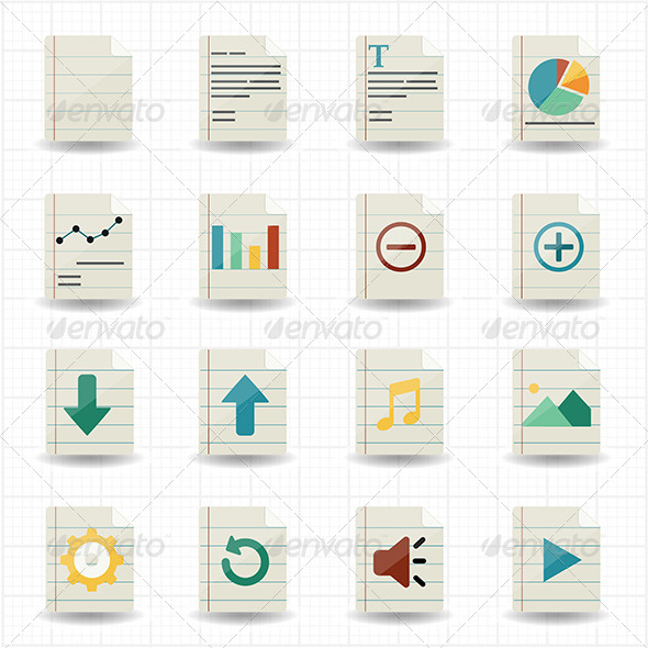 GraphicRiver Document Icons 7588503