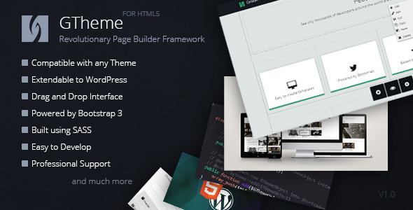 CodeCanyon GTheme Revolutionary HTML Page Builder Framework 7573470
