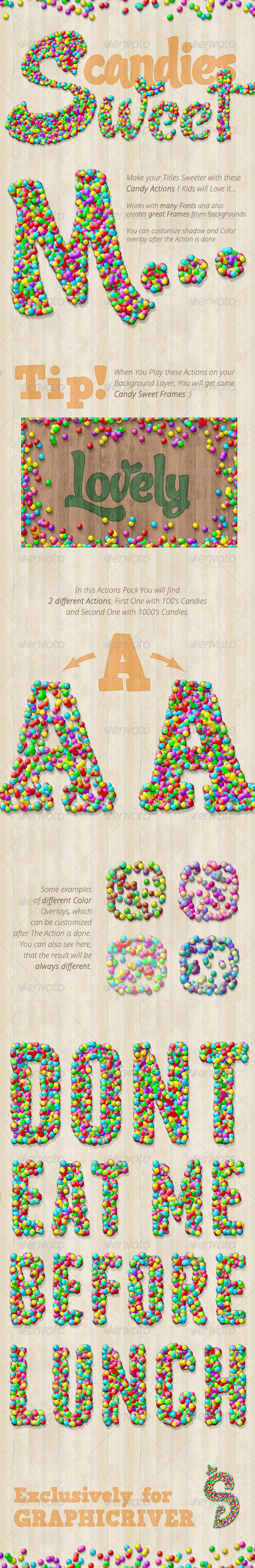 GraphicRiver Candy Text Creator Photoshop Actions 7588581