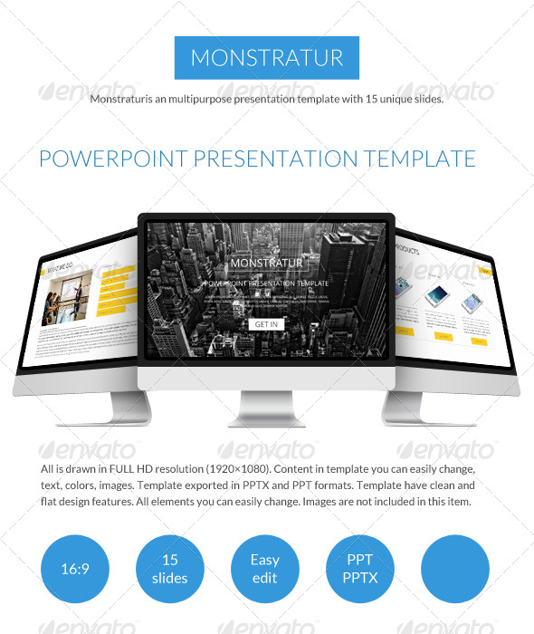 GraphicRiver Monstratur Business Power Point Presentation 7588786