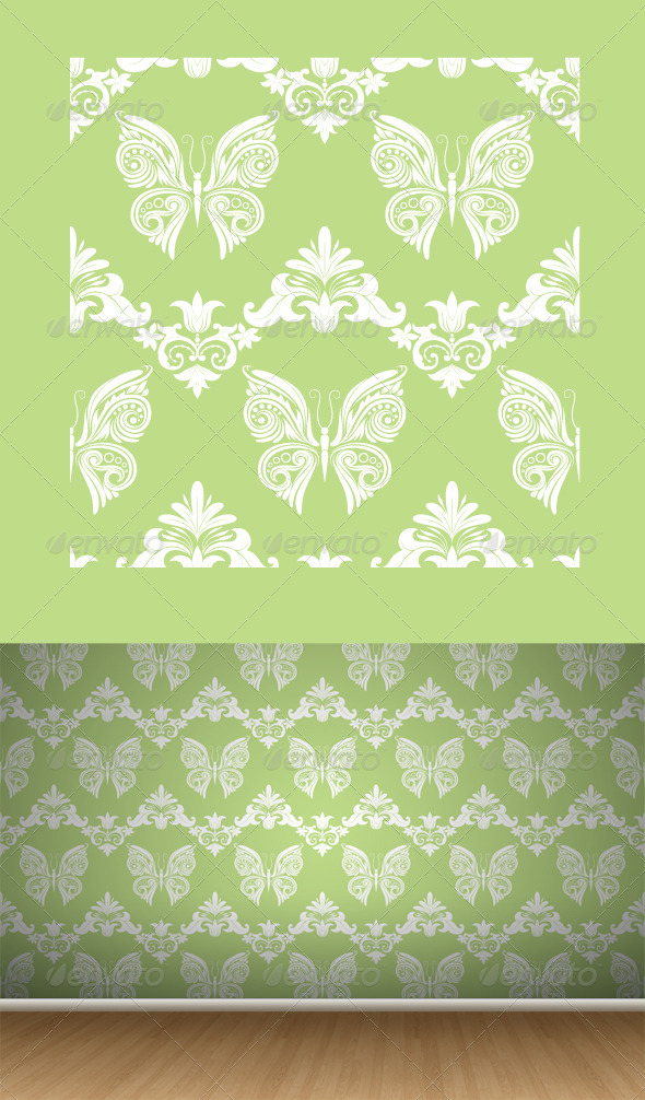 GraphicRiver Butterfly Ornament Pattern 7588799