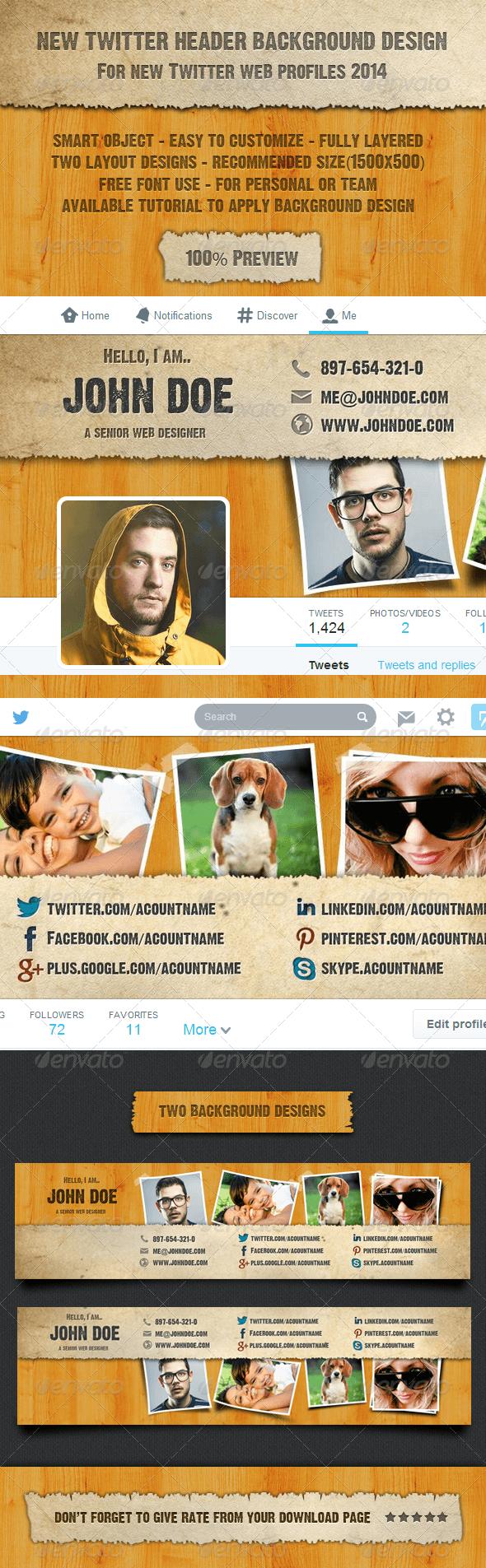 GraphicRiver New Twitter Header Background Design 7588974