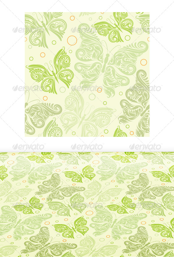 GraphicRiver Butterfly Pattern 7588975