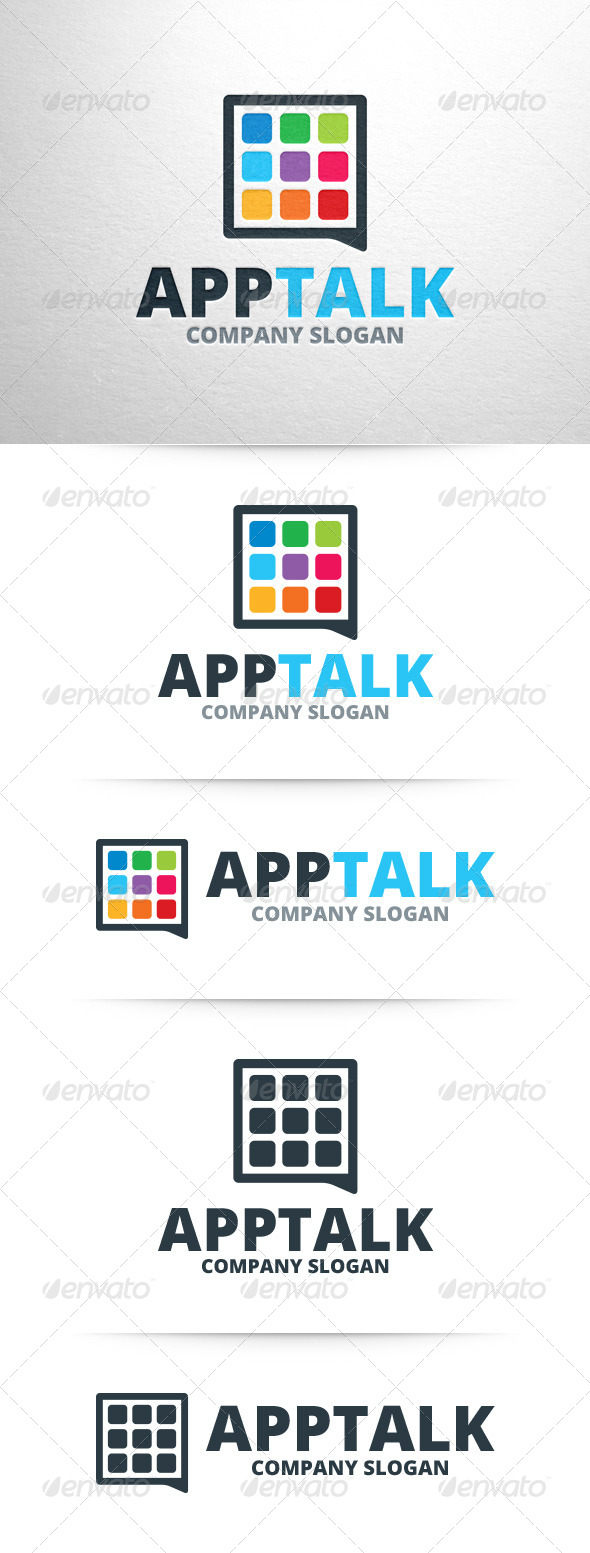 GraphicRiver App Talk Logo Template 7589020
