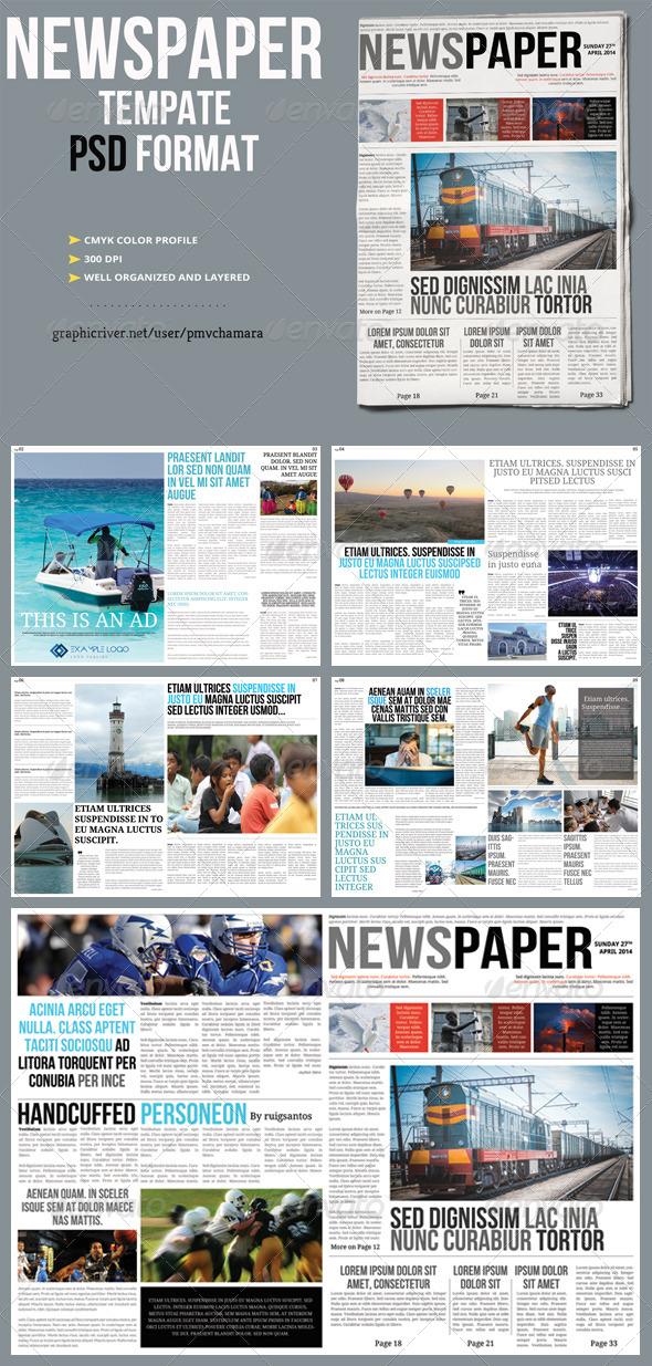 GraphicRiver Newspaper Template 7585353