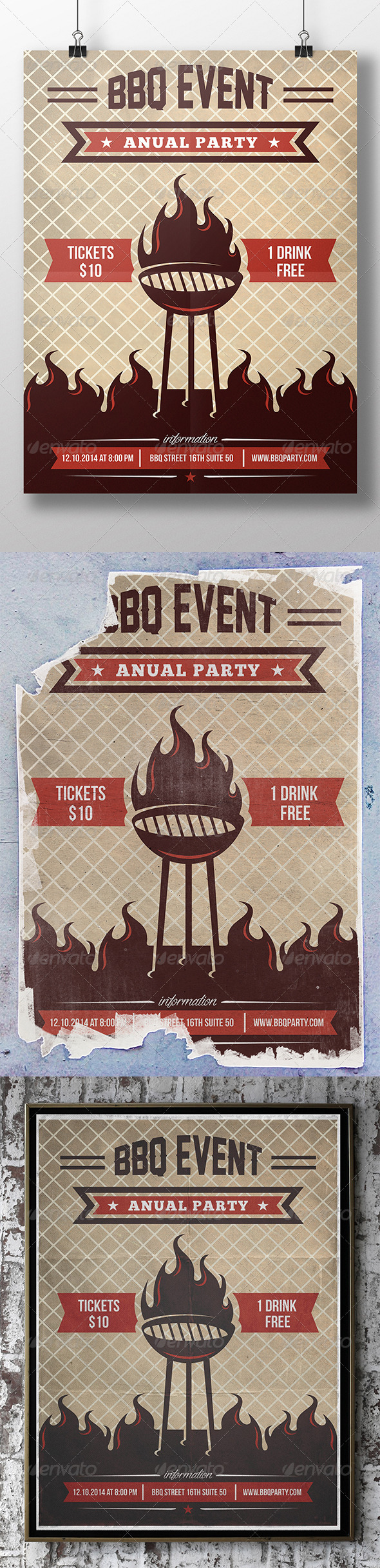 GraphicRiver BBQ Summer Party Flyer 7589151