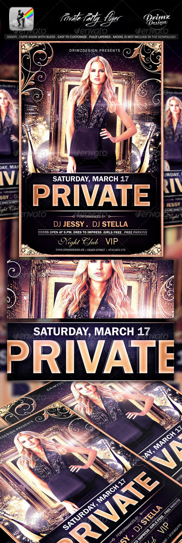 GraphicRiver Private Party Flyer 7589631