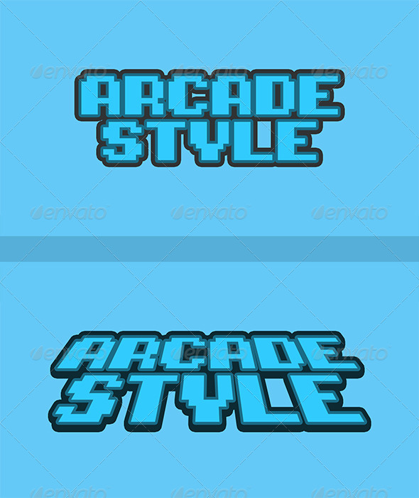 GraphicRiver Arcade Text Style 7589651