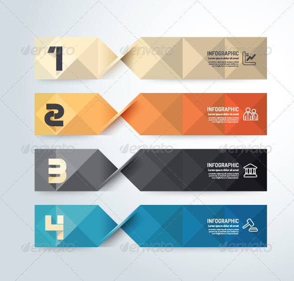 GraphicRiver Modern Geometric Design Infographic Template 6758259