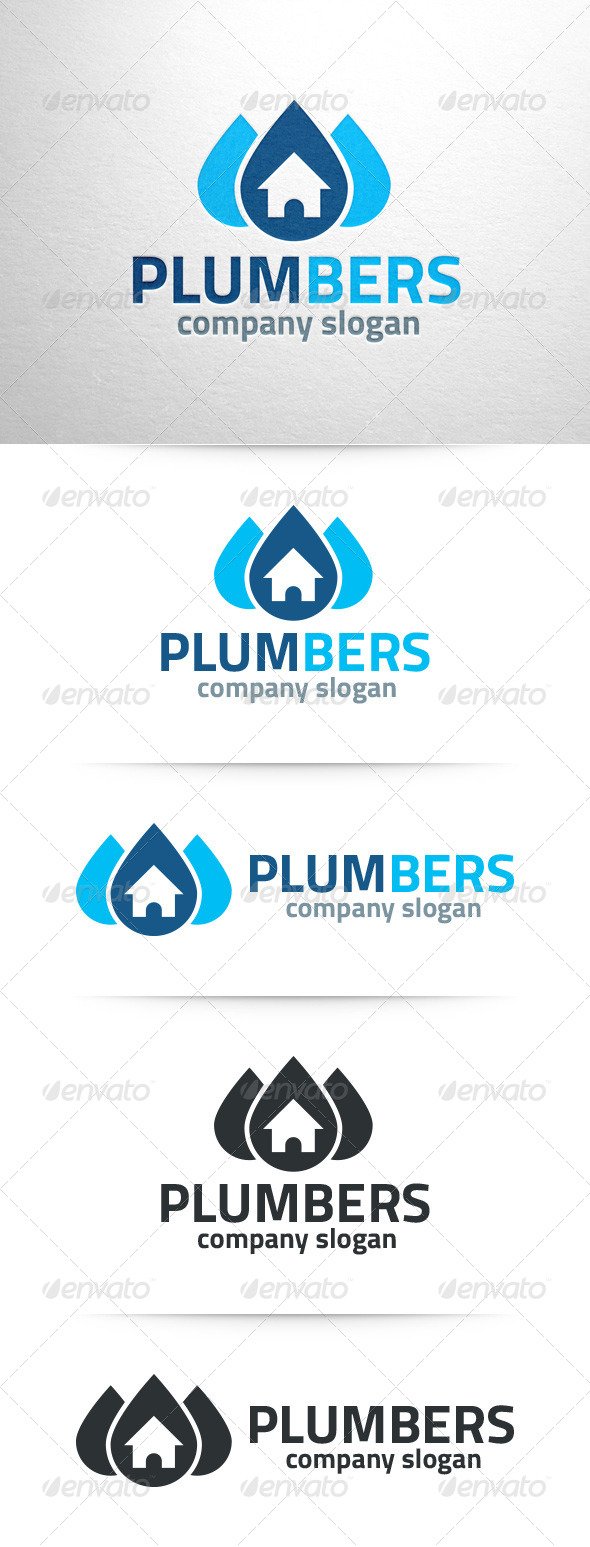 GraphicRiver Plumbers Logo Template 7589758