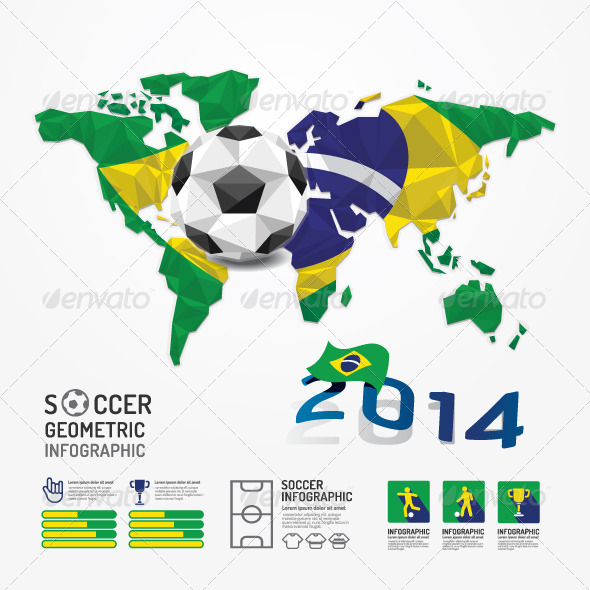 GraphicRiver Infographic Soccer Ball Geometric 7185556