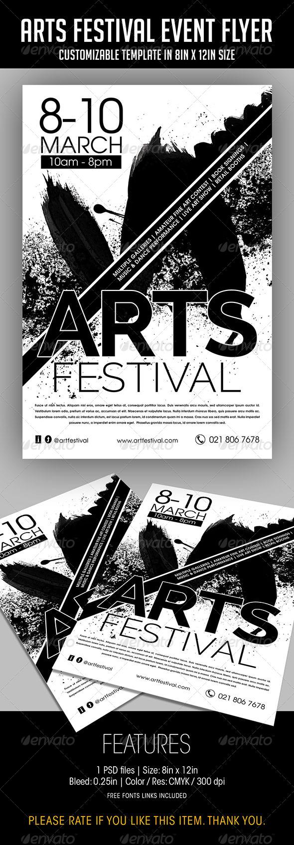 GraphicRiver Arts Festival Event Flyer 7590625