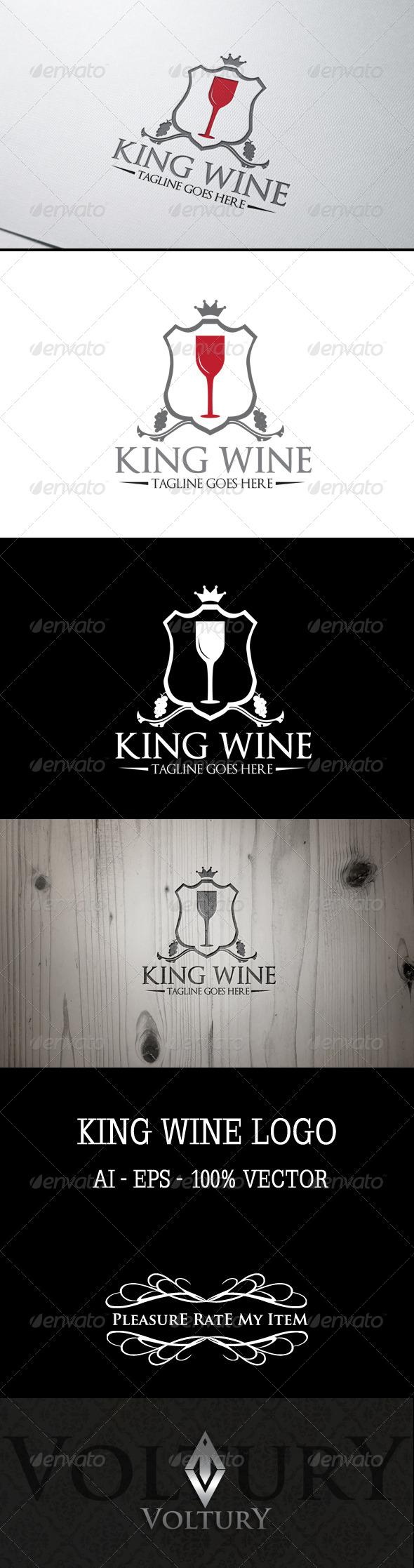 GraphicRiver King Wine Logo 7590791