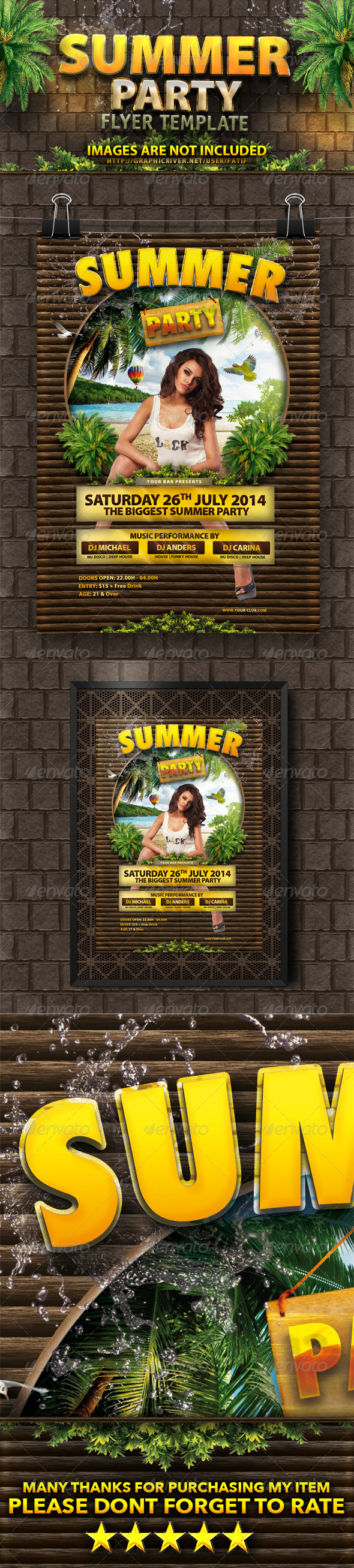 GraphicRiver Summer Party Flyer Template 7579767