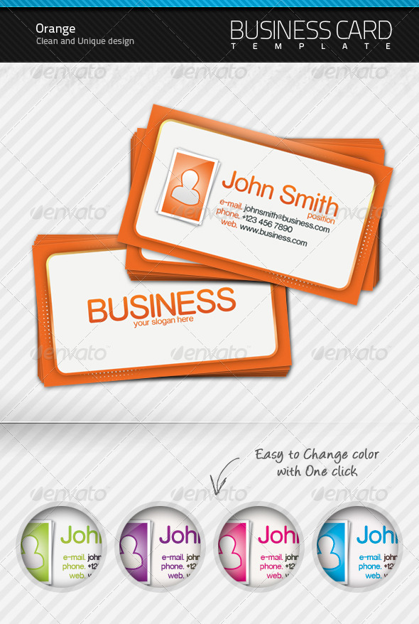Orange Business Card - Creative Business Cards