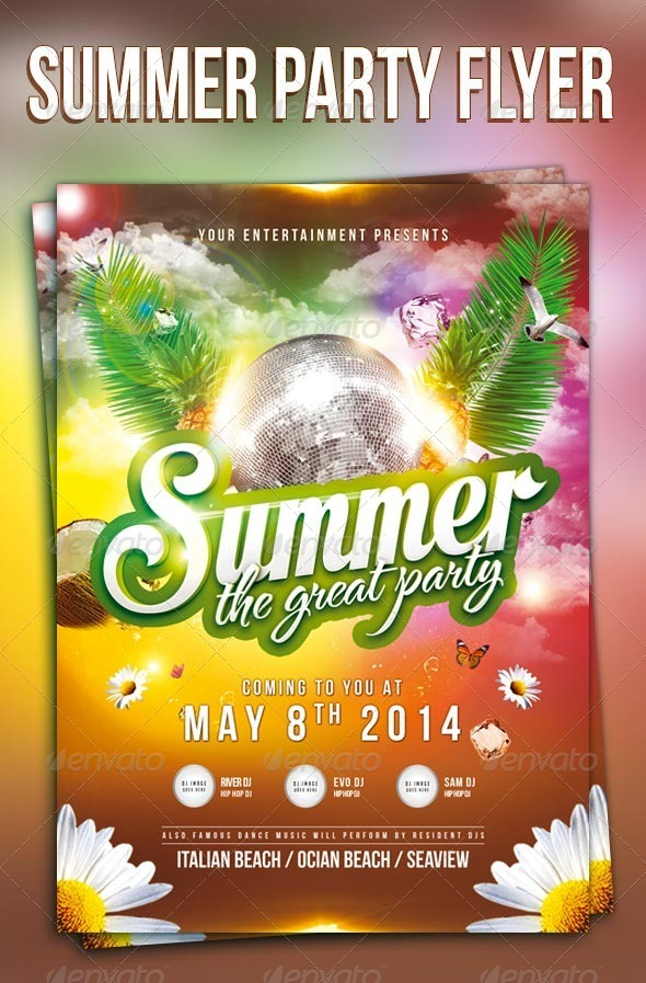 GraphicRiver Summer Party Flyer 7588335