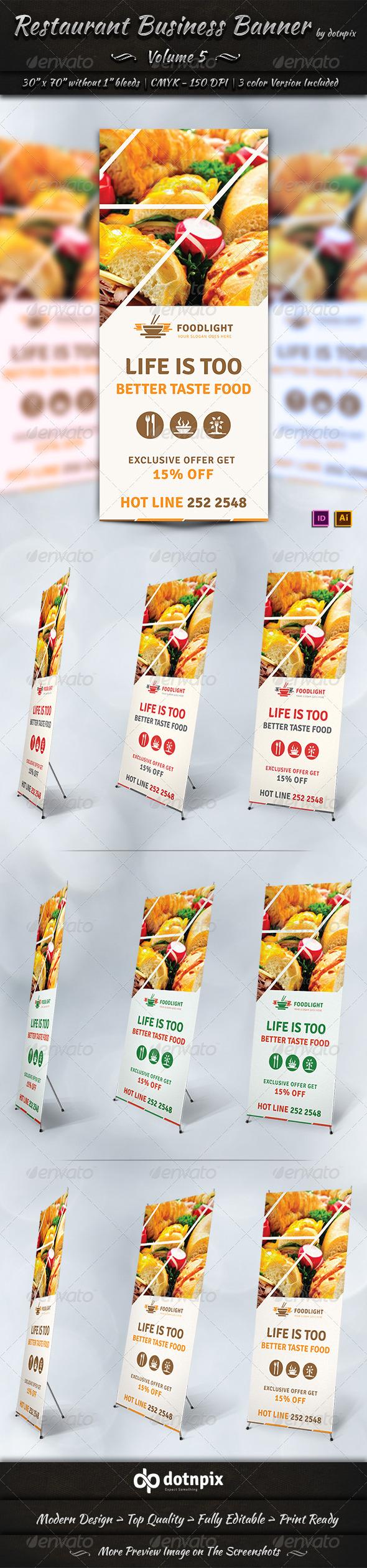 GraphicRiver Restaurant Business Banner Volume 5 7588500
