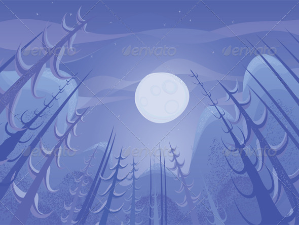 Vector Night Landscape - Miscellaneous Characters