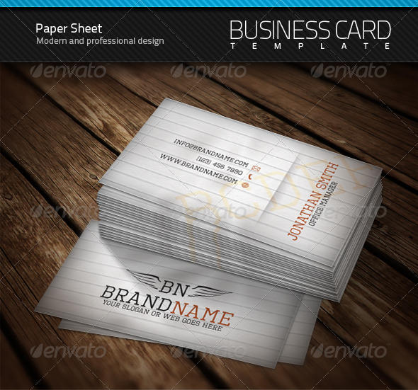 Paper Sheet Business Card