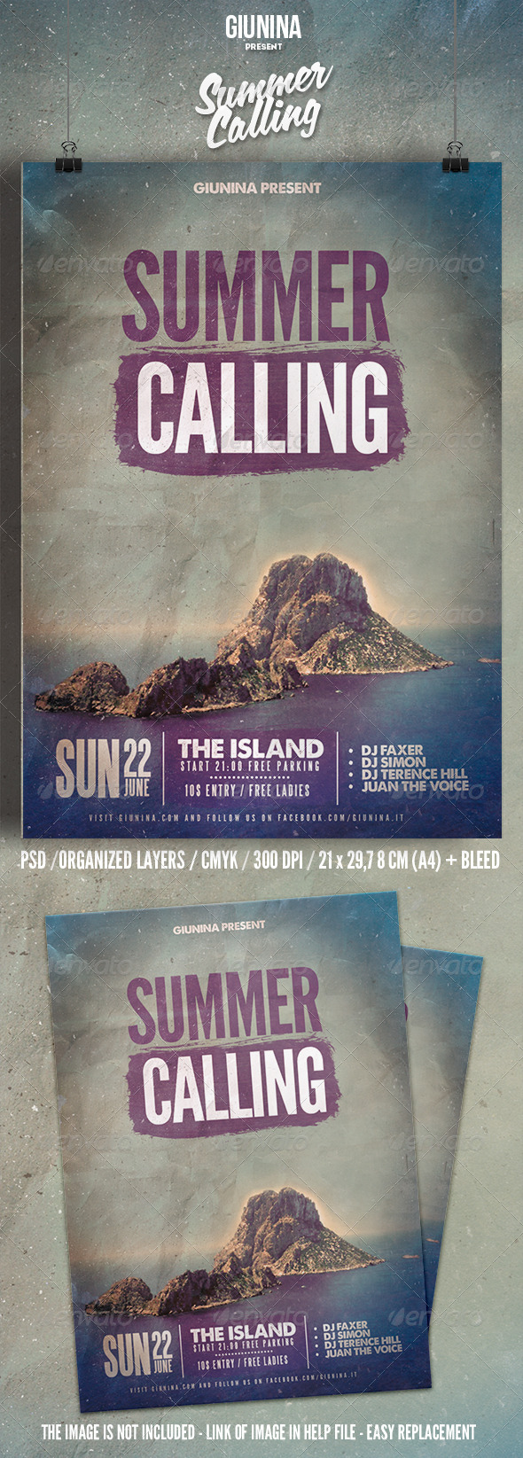 GraphicRiver Summer Calling Flyer Poster 7586268