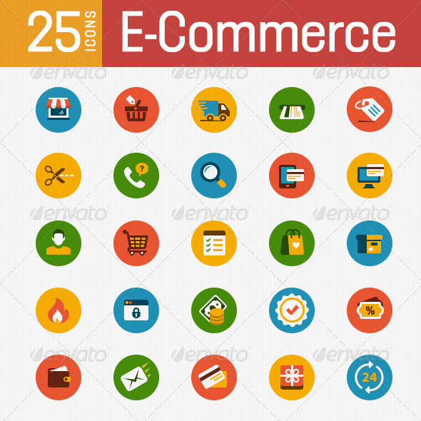 GraphicRiver E-Commerce Icon Set 7572077