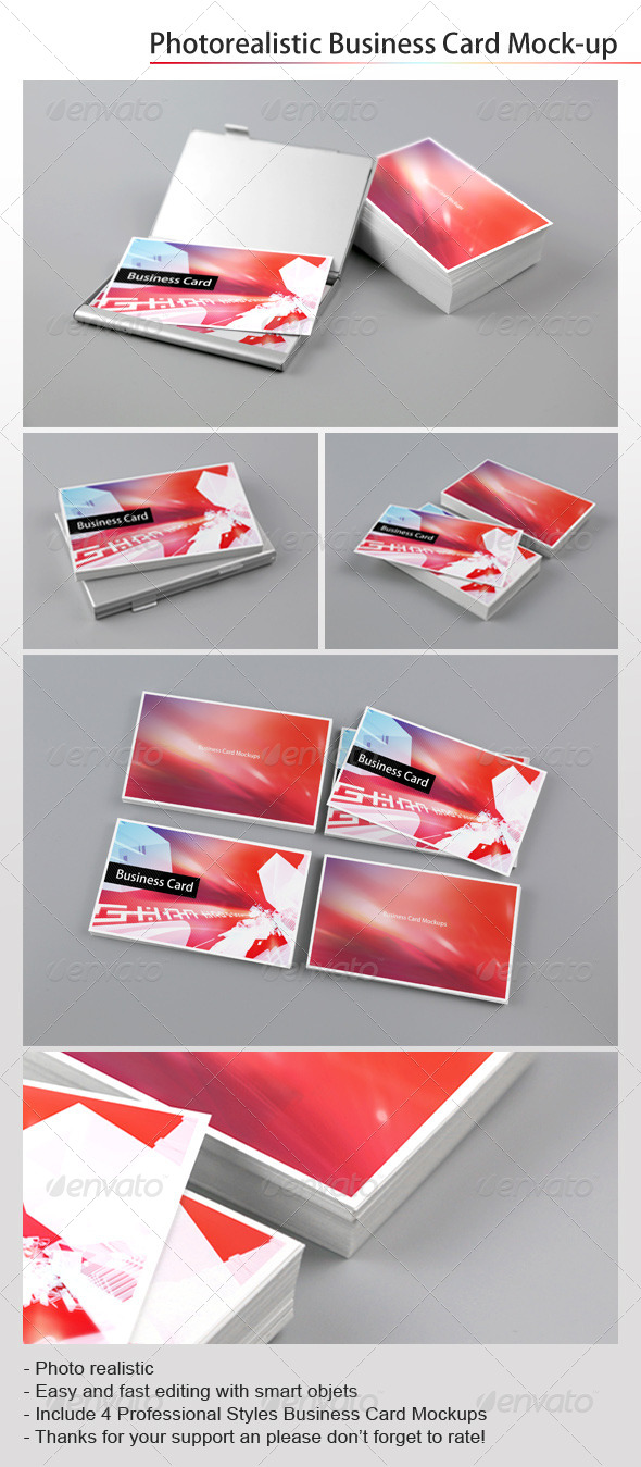 GraphicRiver Photorealistic Business Card Mockups 7591149