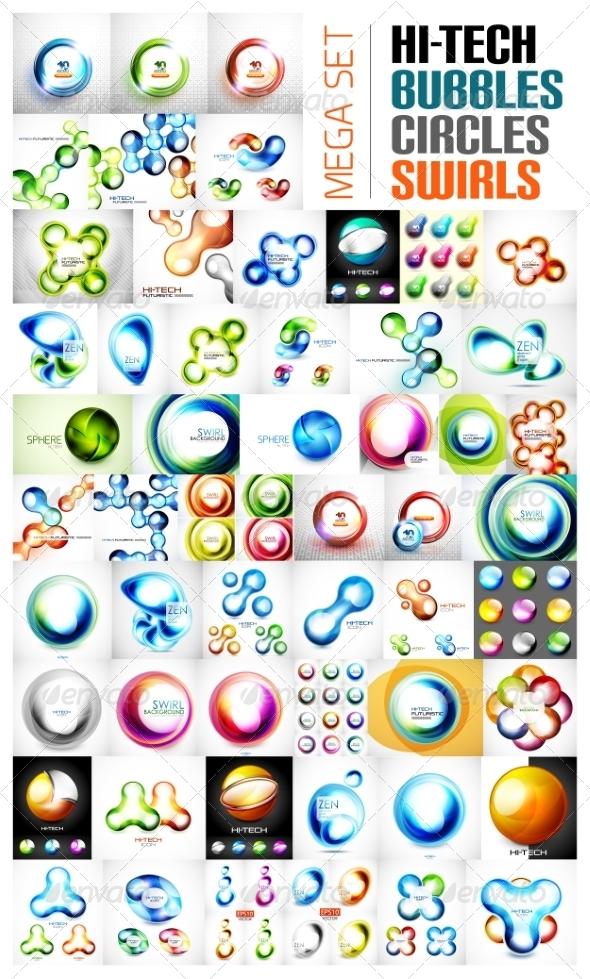 GraphicRiver Swirl circle sphere glossy bubble designs 7591256