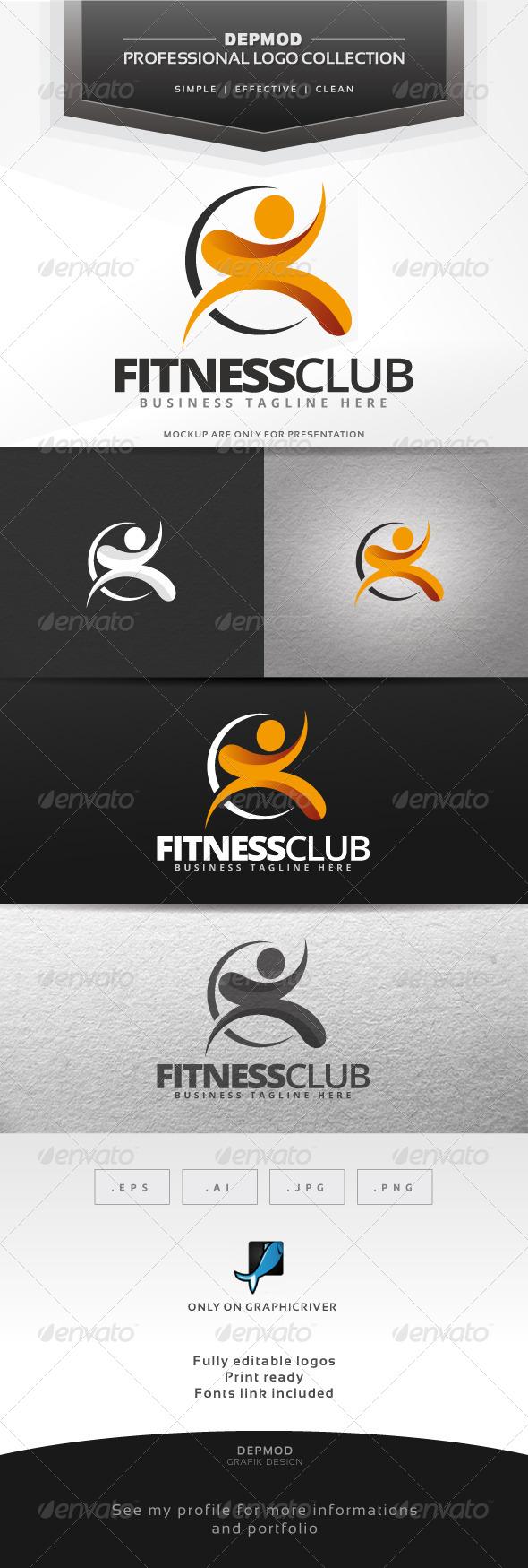 GraphicRiver Fitness Club Logo 7591376