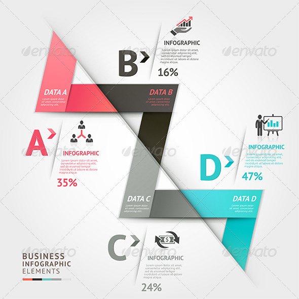 GraphicRiver Modern Infographic Arrow Origami Template 7591417