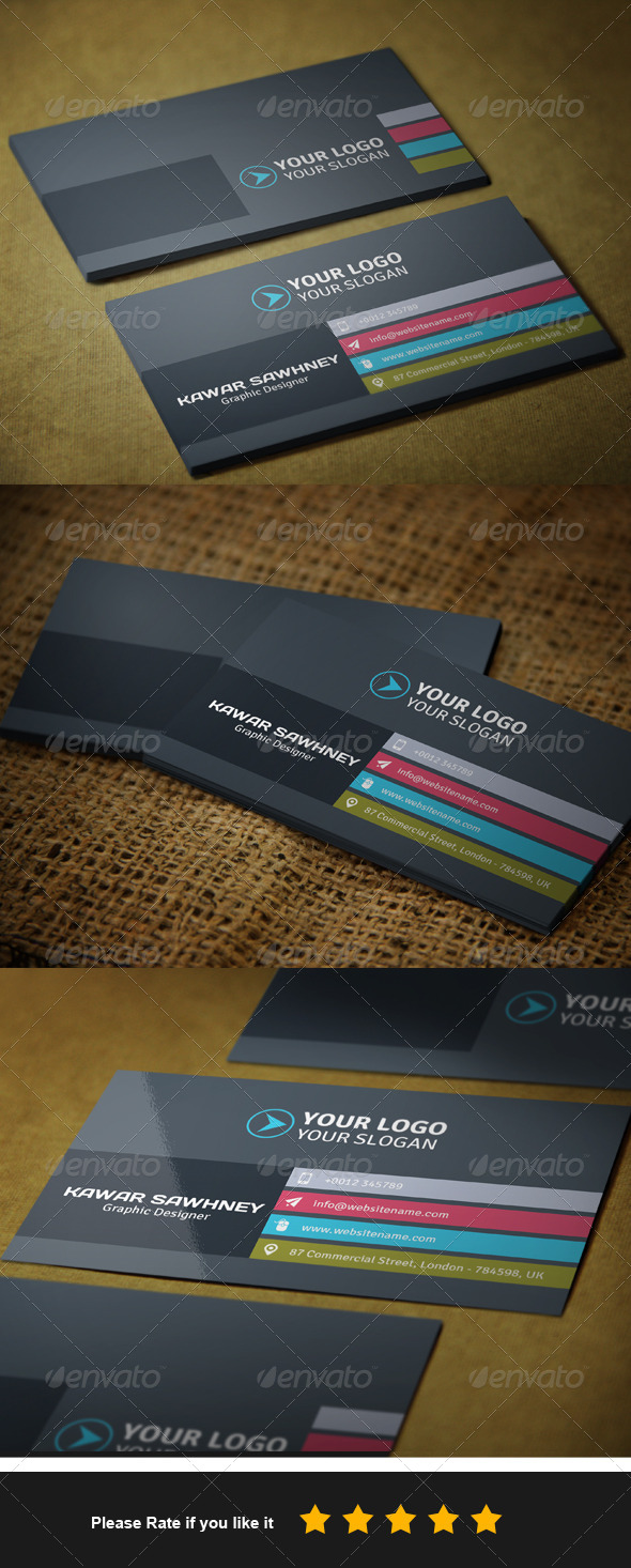 GraphicRiver Corporate Business Card 2 7589982