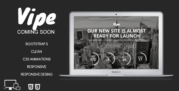 Vipe-Coming-Soon-Template designs HTML