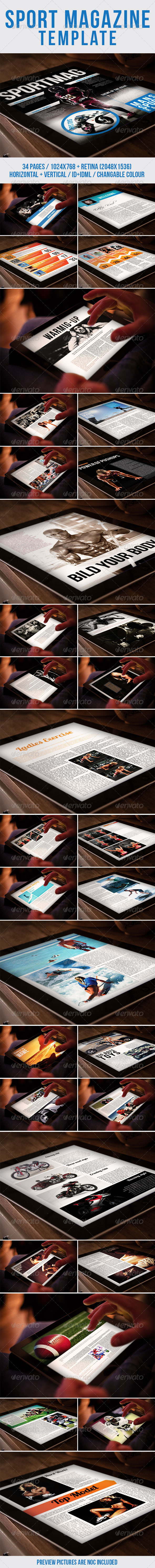 GraphicRiver Tab Sport Magazine Template 7591482