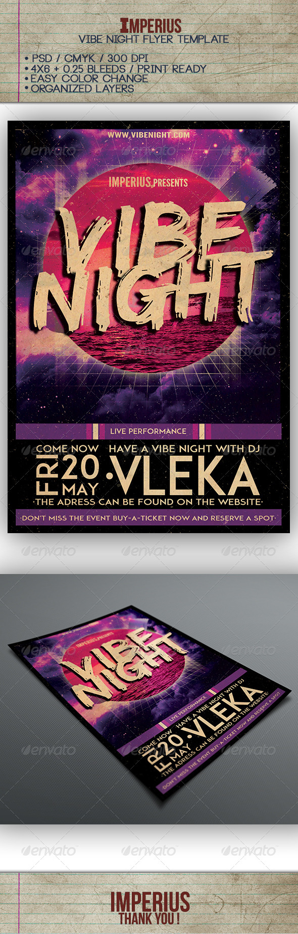 GraphicRiver Vibe Night Flyer 7591488