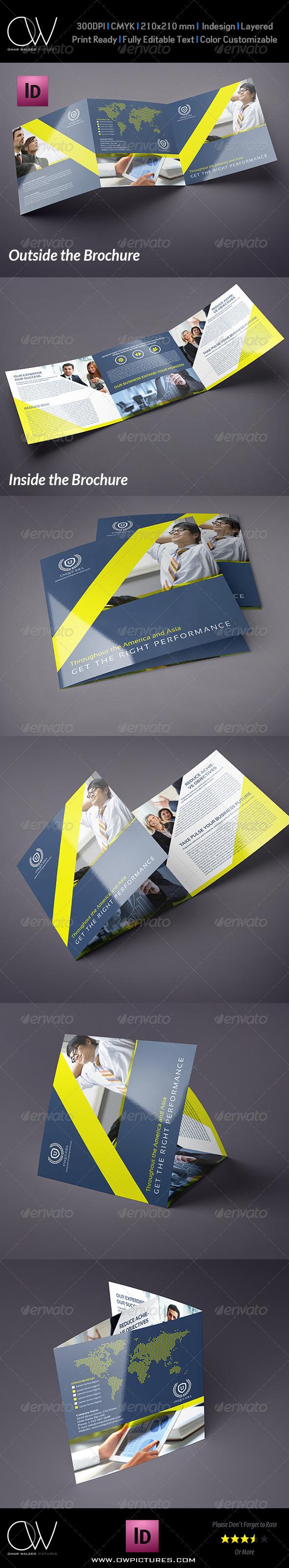 GraphicRiver Company Brochure Tri-Fold Square Brochure Vol.8 7591492