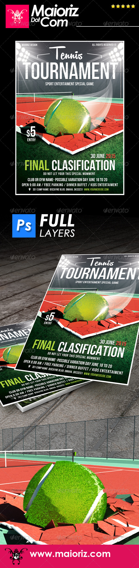 GraphicRiver Tennis Tournament Flyer 7591842