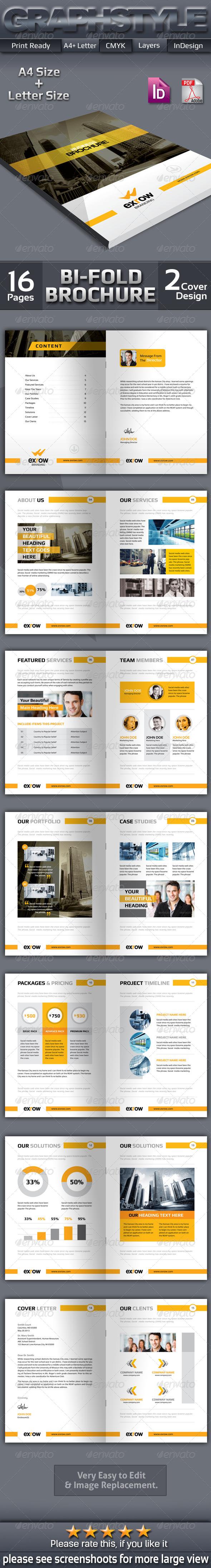 GraphicRiver Exrow Business Bi-Fold Brochure 7591883