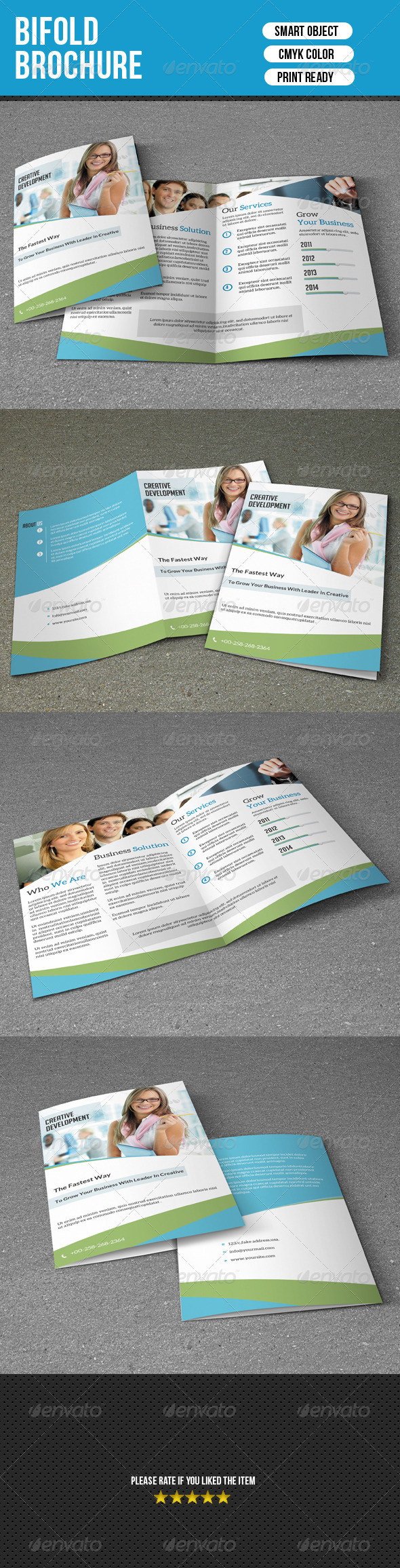 GraphicRiver Bifold Business Brochure 7591900