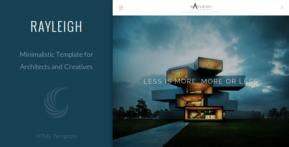 Rayleigh - A Responsive Minimal Architect Template