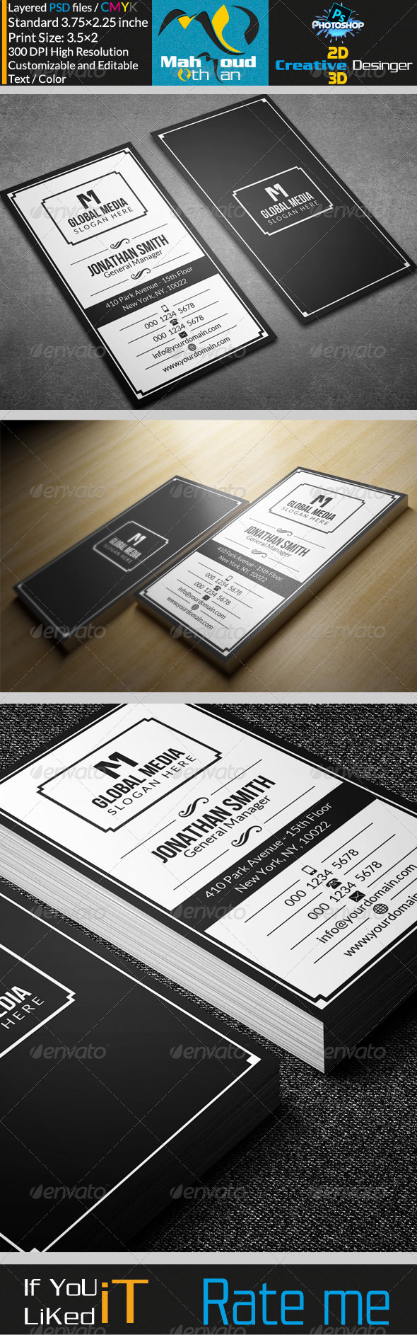 GraphicRiver Retro Business Card 23 7591909