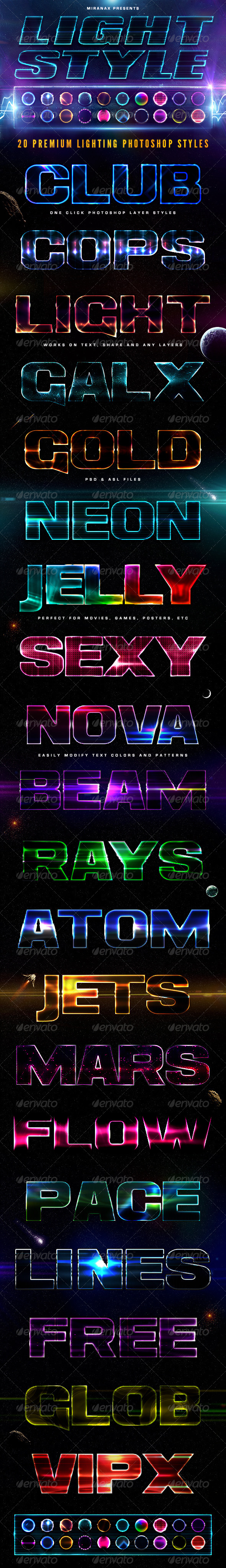 GraphicRiver 20 Lighting PSD Text Effects 7592251